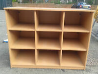 Office storage unit with 9 sections