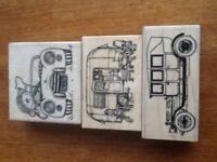 Old Car, Caravan & sports car rubber stamps