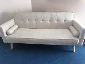 Cream Sofa Bed - 3 seater, Scandinavian Style