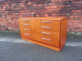 Vintage Mid Century Modern Teak G Plan Fresco Chest Of 8 Drawers