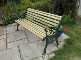 3 seater cast iron garden benches, made to order.