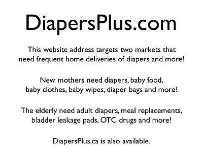 DiapersPlus.com Domain For Sale