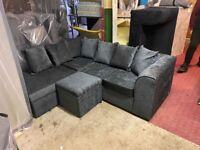 BRAND NEW BYRON CHENILLE FABRIC CORNER & 3+2 SEATER SOFA SET AVAILABLE