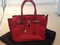 Jasper Conran bag, red, real leather