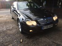 MERCEDES BENZ C CLASS REG 2007 1.8 PETROL 3 DOOR SPARE OR REPAIR NONE RUNNER NEED RECOVERY TO MOVE