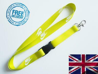 Nike Lanyard Neck Strap for Keys ID Card Holder - Lime width 20mm, length 52cm w