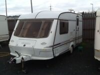 1997 elddis hurricane GTX /2 berth end changing room with awning