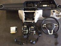 S203 W204 Dashboard Driver Passenger Knee seat belt ecu control Airbag Kit Mercedes C Class 10-14