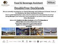 Waiter/Waitress - November 11th - Doubletree by Hilton Docklands Riverside - Assessment Centre