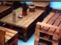Pallet furniture made to order (bin stores .log stores.tables.garden bars ) call 074155 84050