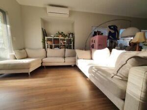 Nickscali fabric chaise lounge