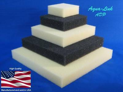 """Filter Foam Pad / Block sponge ¾"""" - 1½"""" thick AQUARIUM SAFE (No Chem Treatments)"""