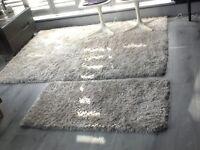 Cream rug for sale £20. Fibre polyester & cotton.