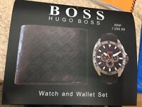 BRAND NEW HUGO BOSS & ARMANI WATCH & WALLET GIFT SETS PERFECT XMAS GIFT