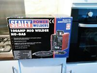 100AMP MIG WELDER WITH CLAMP AND MASK