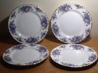 4x medium salad plates - Royal Albert Moonlight Rose