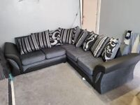💯🥰 LUXURY SHANNON BLACK AND GREY CORNER AND 3+2 SEATER SOFA SET AVAILABLE IN STOCK💯🥰