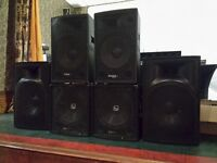 DJ / Band Speakers, Subs, Amp, Crossover - QTX, Ibiza Sound, Behringer