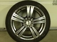 17INCH 5/100,5/114 MULTIFIT ALLOY WHEELS WITH TYRES FIT VW SEAT HONDA NISSAN MITSUBISHI TOYOTA ETC