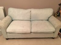 2 Laura Ashley couches, duck egg blue/green colour