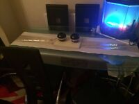 Harvey's Dining table with 6 matching chairs BUYER MUST COLLECT