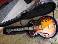 hardly used rockabilly style guitar