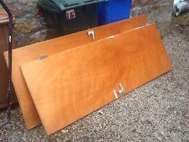 Plywood interior doors