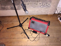 Roland street cube with mic and stand