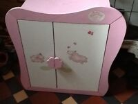 BABY ANNABELL WARDROBE, GOOD CONDITION, SOLIDLY BUILT, GREAT FOR STORAGE £15