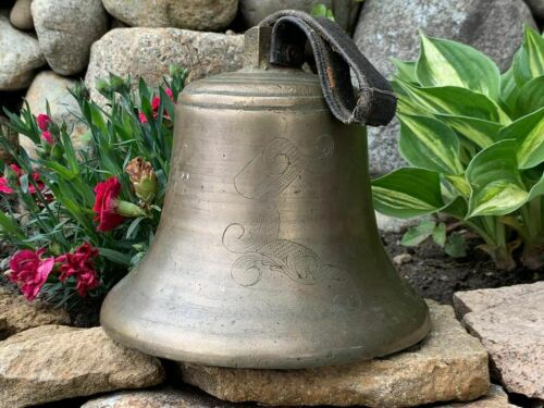 Antique Engraved Brass Bell