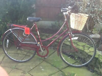 Ladies Vintage dutch bike RALEIGH CAMEO 3 speed , frame size 20 ready to go - GOOD CONDITION Welcome