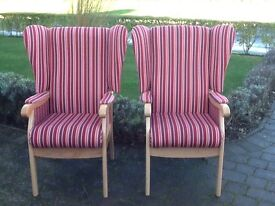High back chairs (2)