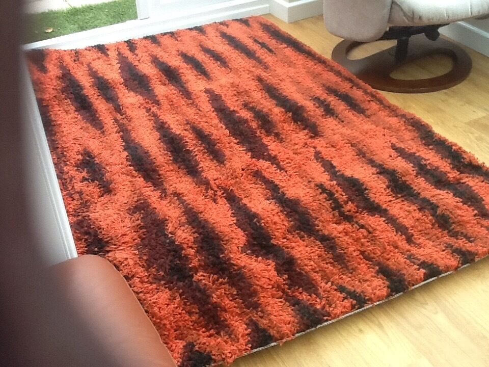 Ikea Skoven Rug Burnt Orange Black In Burgess Hill West Sus