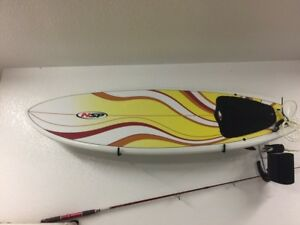NSP 5'6 surfboard for sale with leash and wax
