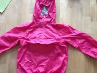 Next Girls Lightweight Waterproof Cag in a Bag, Age 5