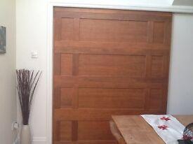 Large cherry wood sliding door