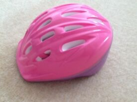 Girls pink and purple bicycle helmet, size 50-54 cm