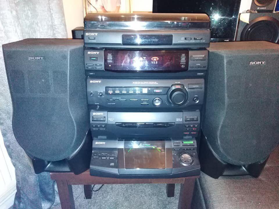 Sony HIFI Stereo System Dolby Prologue 5CD 750W HCD-XB3 | in Brimington,  Derbyshire | Gumtree