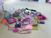 Girls bags, purses, pencil cases, make up bags and back packs