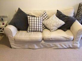 Cream, used sofa for sale
