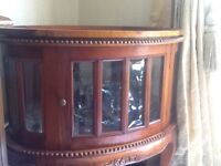 Beautiful wooden drinks /glasses cabinet. Top is removable to make a tray
