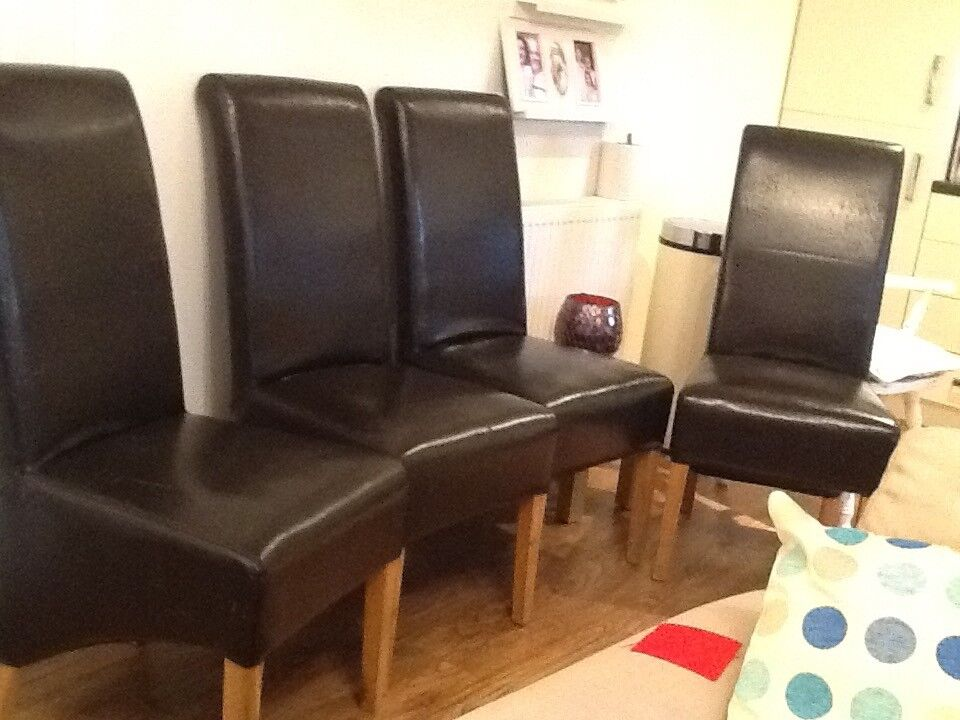 Four Modern Dining Chairs - Reupholstry Project