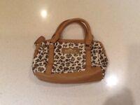 Leopard print river island bag