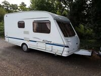 Sterling Europa 460 2 berth caravan 2005 Full Awning, VGC, Bargain !