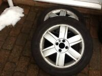 Renault 16 inch alloys and snow tyres x2