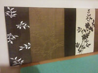 X2 silk wall hangings - brown/chocolate