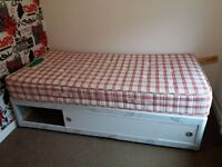 single bed frame and mattress. barely used like new