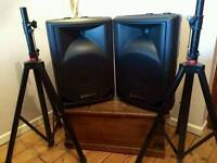 PA speakers & stands
