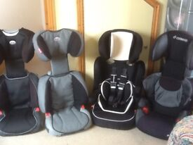 Group 2 3 full highback booster car seats for 4yrs upto 12yrs(15kg to 36kg)from £20 to £35each
