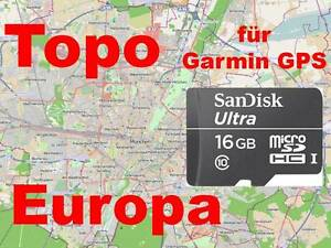 Topo*Europa*Karte*Garmin*Dakota 20*Etrex 20/30*Montana